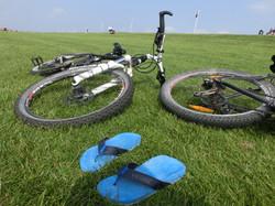 Fahrräder sind willkommen!