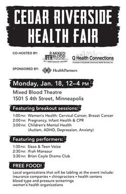 Flyer for Health Fair