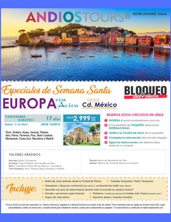 Especiales Europa Semana San ANDIOS TOUR