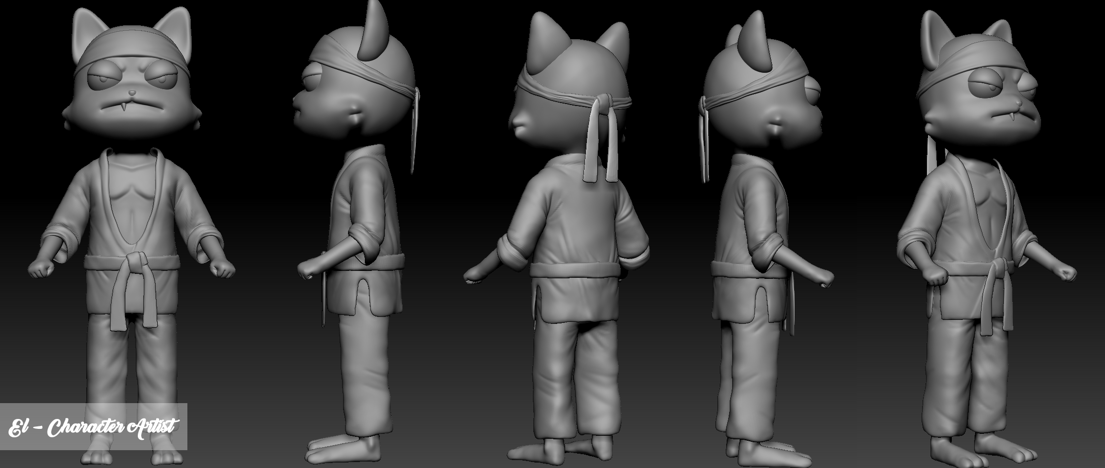 Super Kitty Cat 3D Model