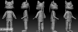 Super Kitty Cat 3D Model