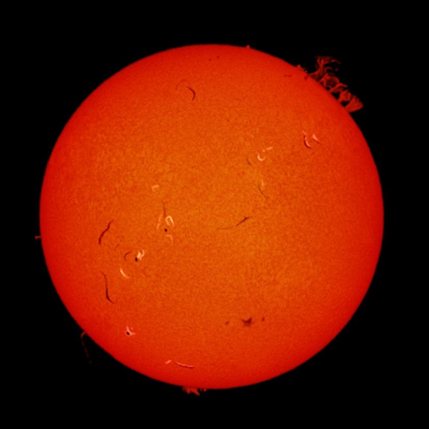 Le soleil et son cortège de planète