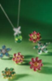 Gemstone Jewelry Flowers