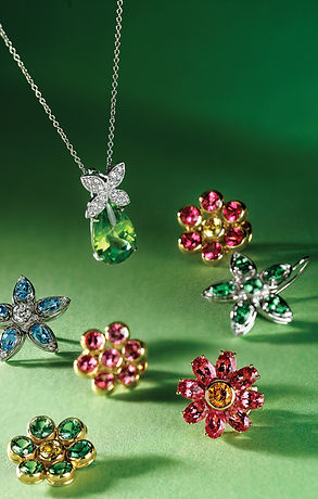 Gemstone Jewelry Flowers