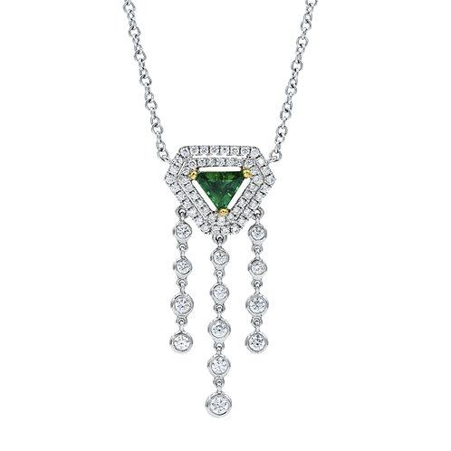 Emerald Raindrop Necklace