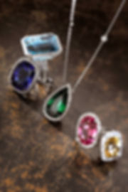 Gemstone Cocktail Rings Featuring Aquamarine, Sapphire, Spinel, Yellow Sapphire