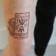 3 of swords tarot tattoo