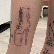 pleaser shoe tattoo