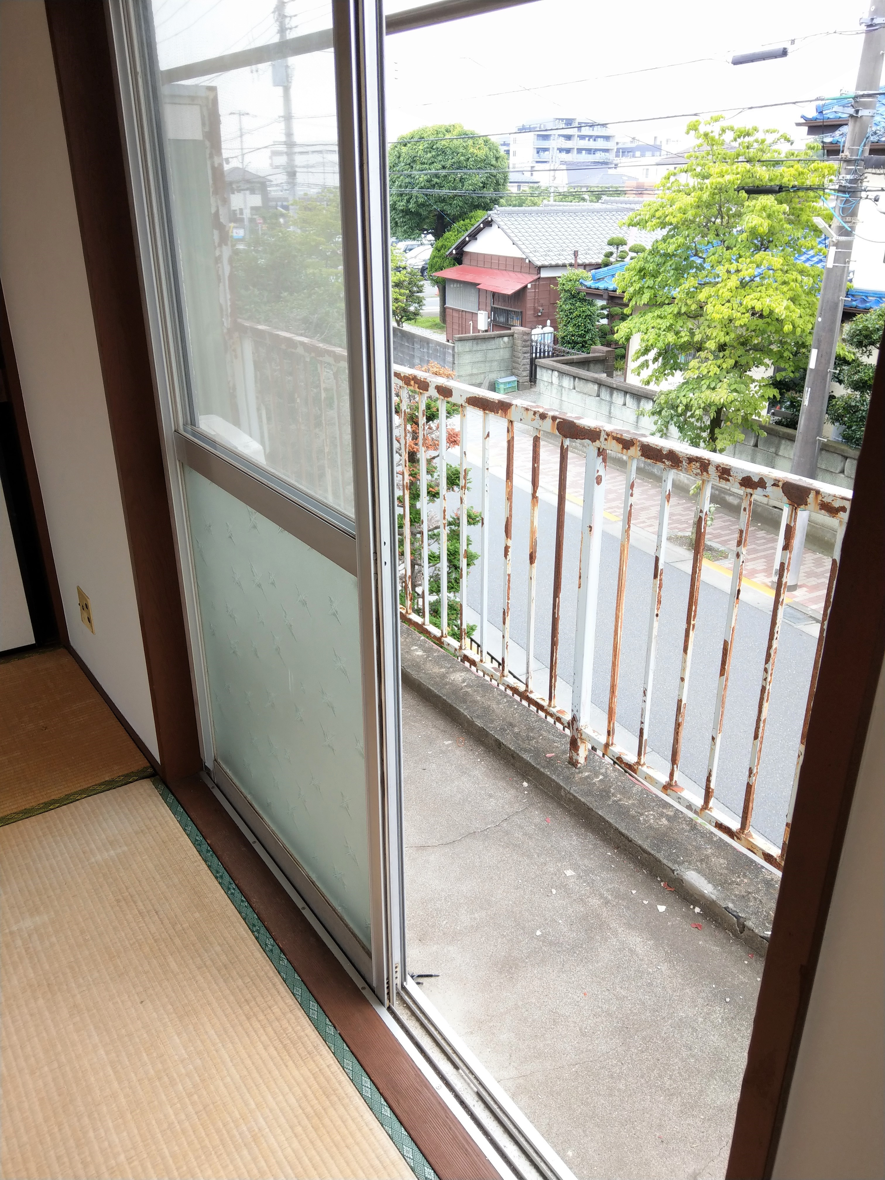 アパート205号室 ベランダ