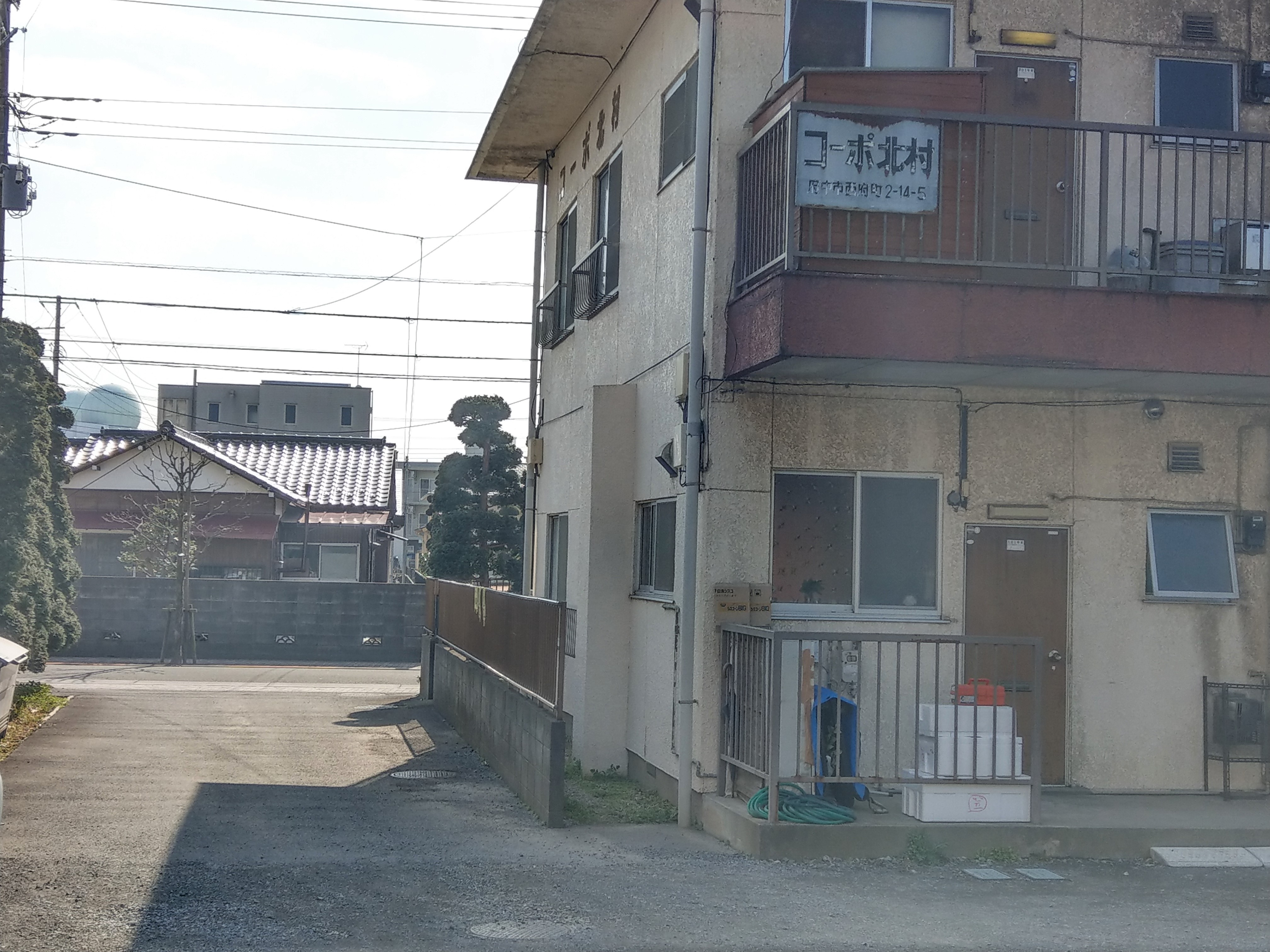 アパート 側道