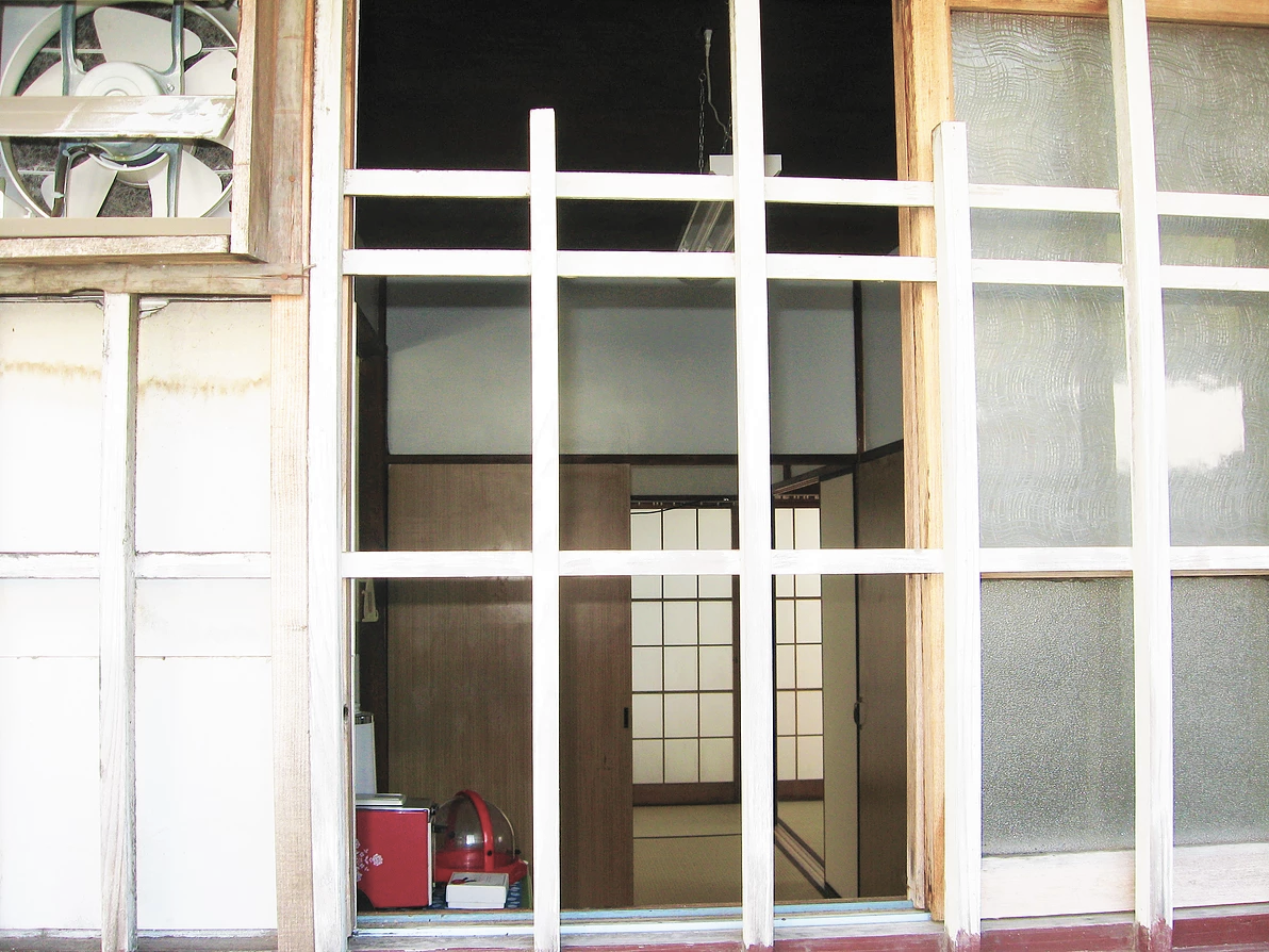 古民家1 台所の窓