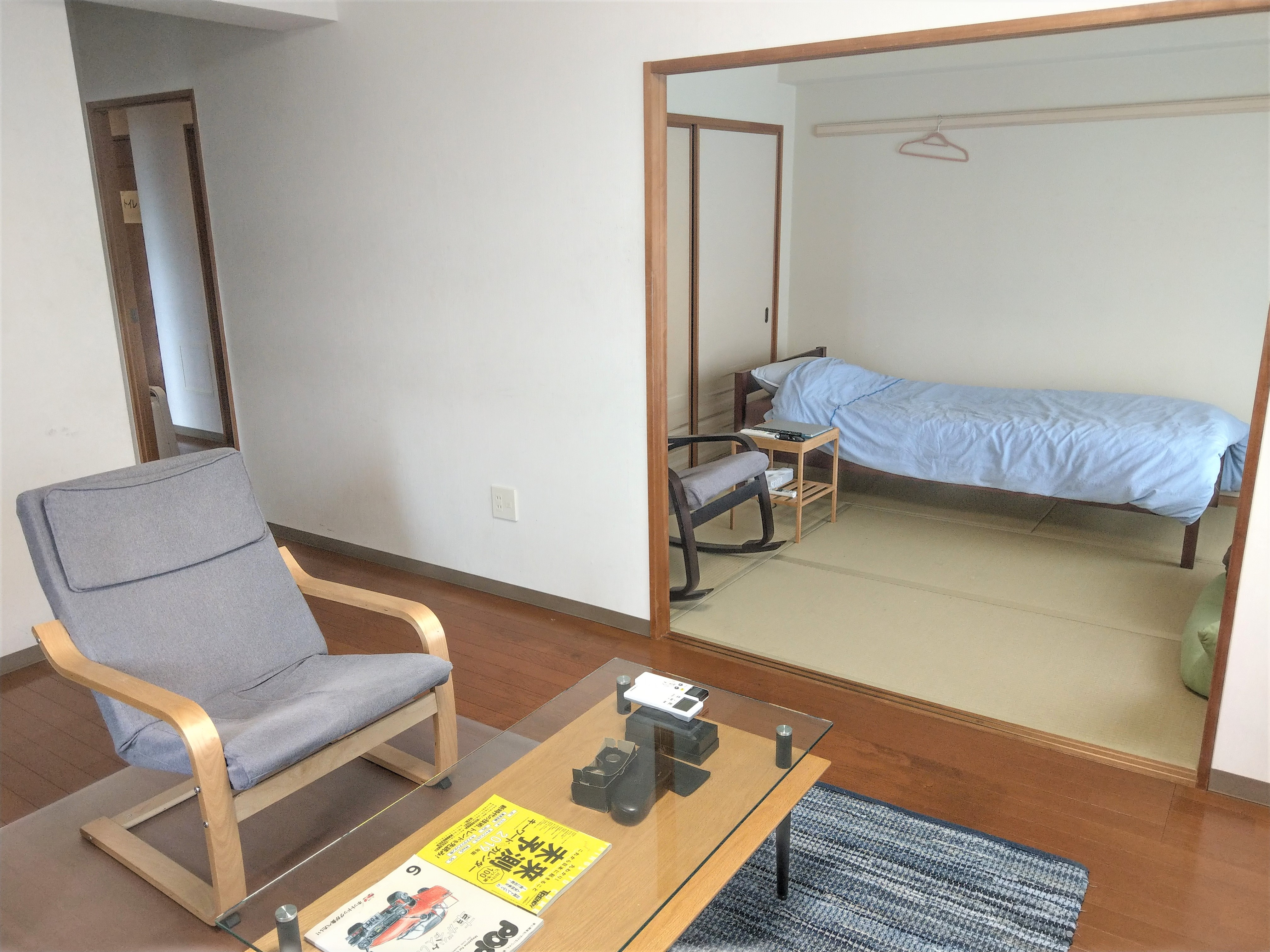 マンション リビング、6畳和室