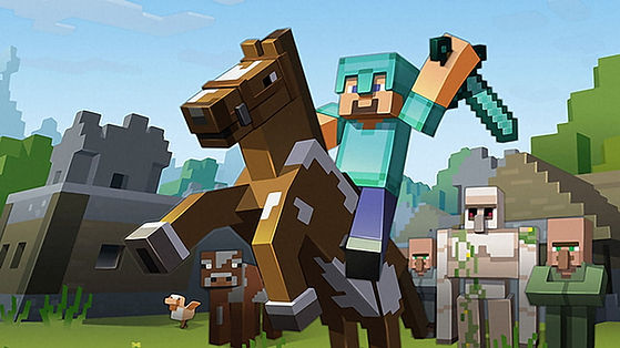 minecraft-character-riding-brown-wallpap