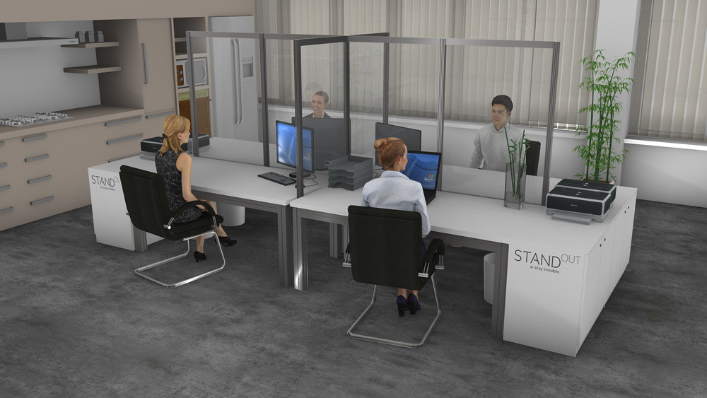 Office Schreibtisch Schutz Großraumbüro
