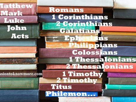 Memorize Order of the NT Books