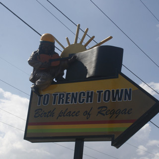 Trench Town Directional Sign