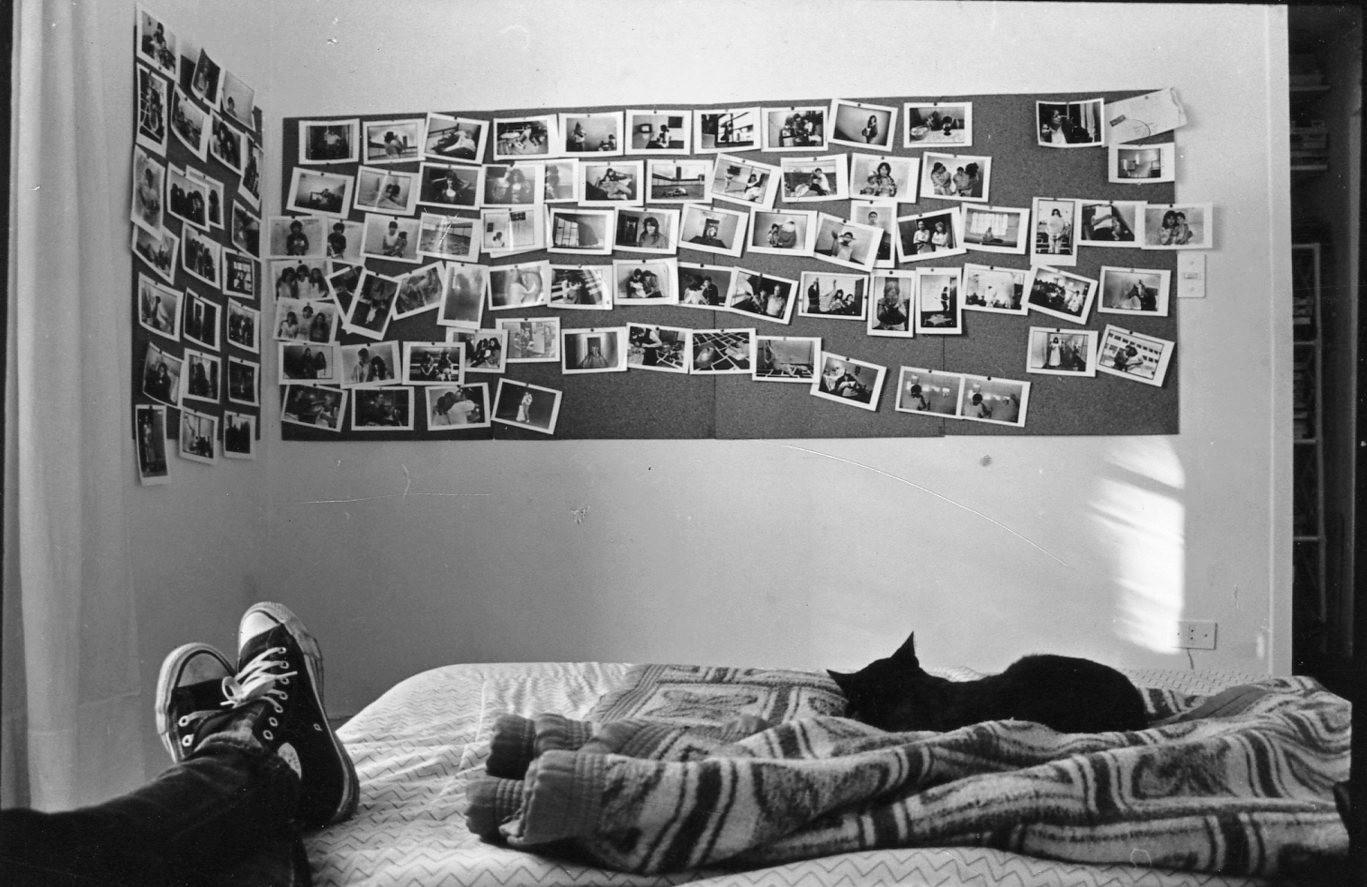 9.editando las fotos en mi casa, 1992.jp