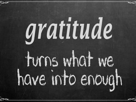 Gratitude Spilling Over