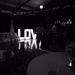 "Light up ""LOVE"" letters"