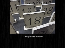 Antique Table Numbers