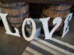 """2ft Antique """"LOVE """" letters"""