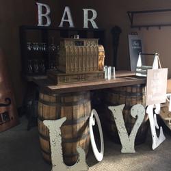 Rustic Whiskey Barrel Bar