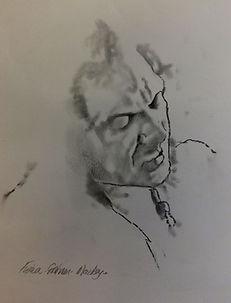 Lemn Sissay drawing bbc radio 4 fiona graham-mackay portrait painter