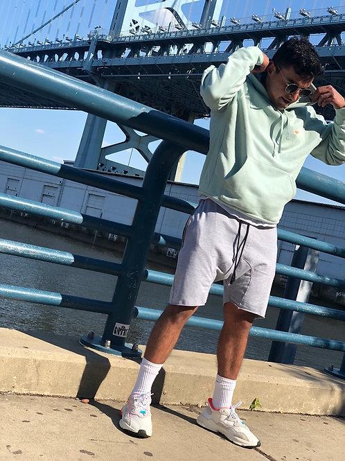 GREY raw cut city shorts