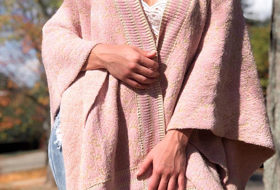 textured pink sugar wrap