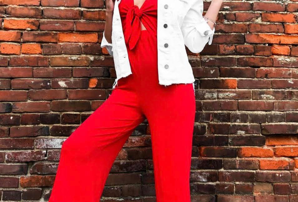 Red Tie Jumpsuit