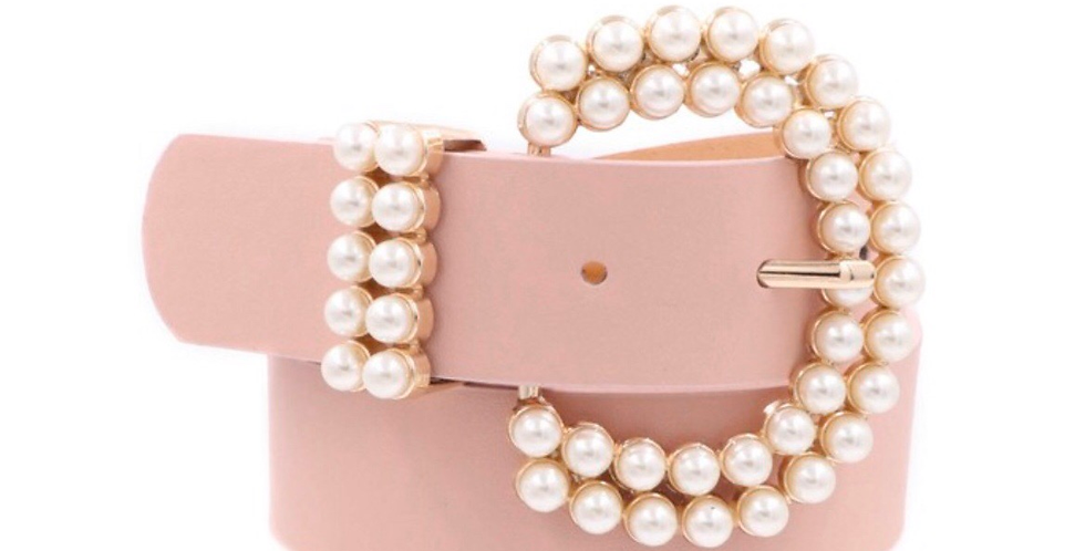 pearly pink belt