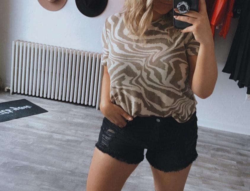 copy cat black wash shorts