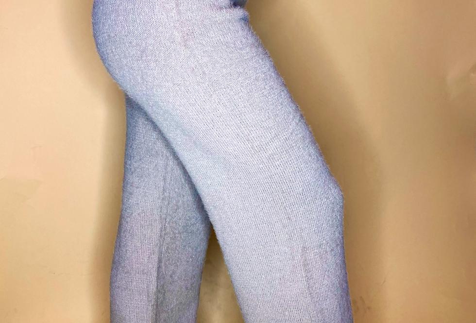 cozy knit bouclé pants