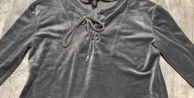 Gray Tied Top