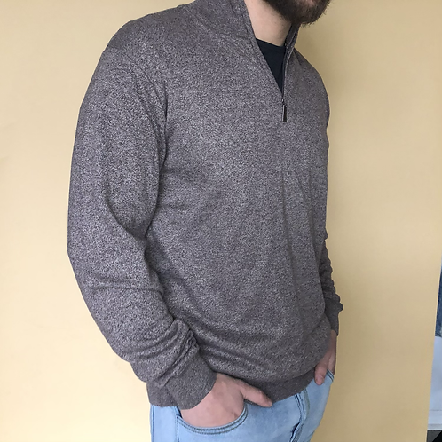 marbled brown pullover