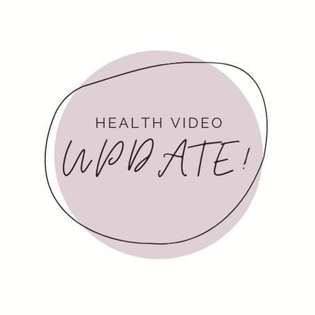 health video.. UPDATE!