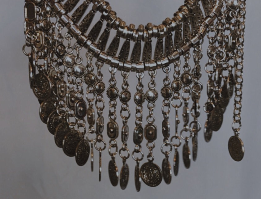 chunky coin statement necklace