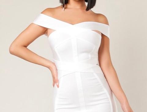 the bach white bandage dress