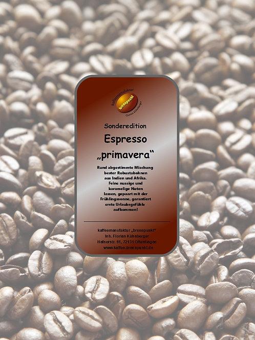 """Espressomischung """"primavera"""" Sonderedition"""