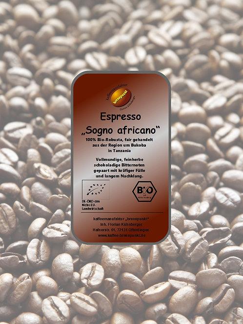 Espresso Sogno africano Robusta Bio/fair