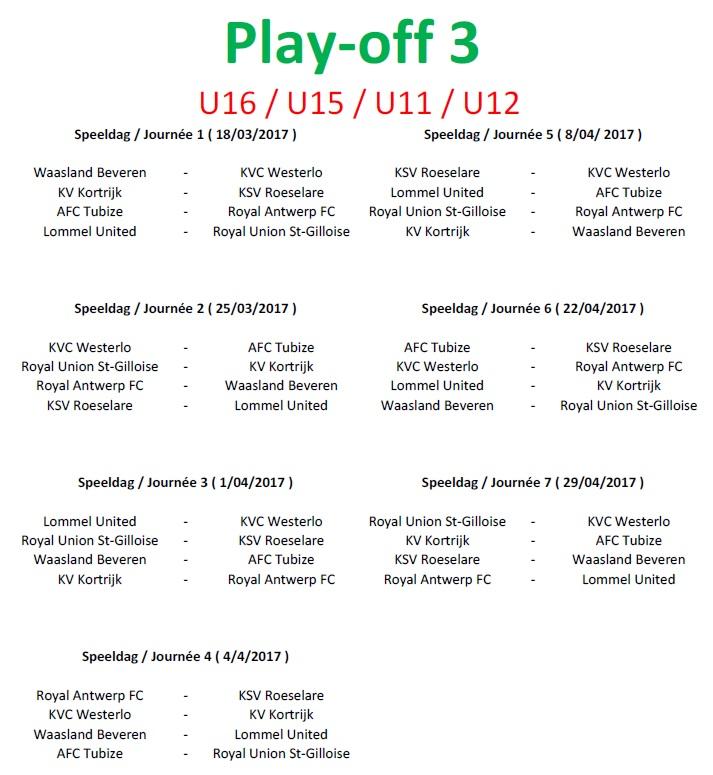Playoff 3 - U16-U15-U12-U11