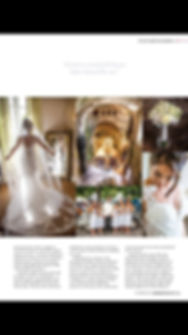 A wedding magazine showing a weddng at Chateau Durantie France by Lydia Taylor Jones