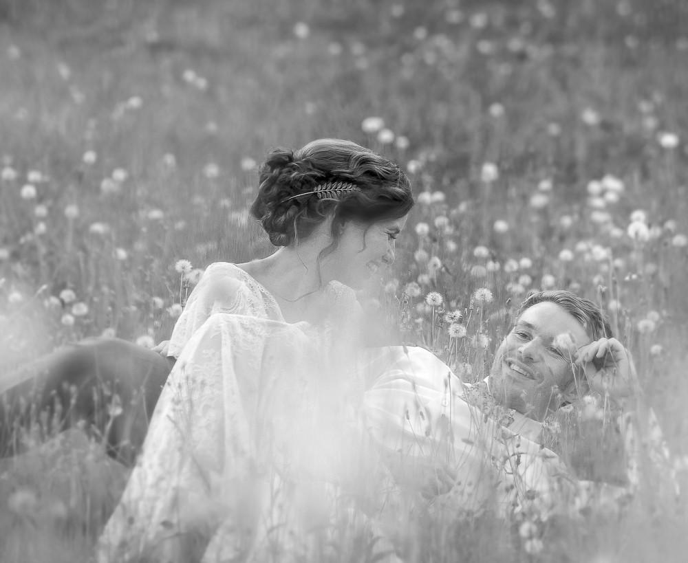 beautiful romantic wedding photograph