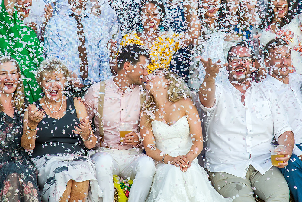 Bonne fete marquee wedding South West france