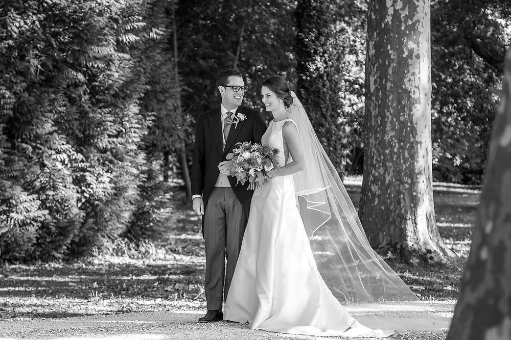 happy couple at their wedding at mas de montet taken by wedding photographer dordogne