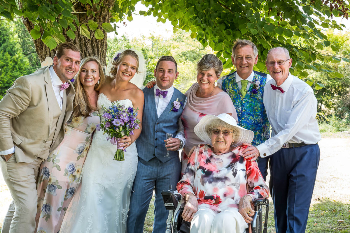 family at a wedding in south west france