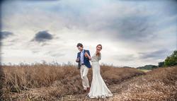 Bride and groom in Dordogne