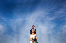 Bride and groom Longevaue wedding south west france