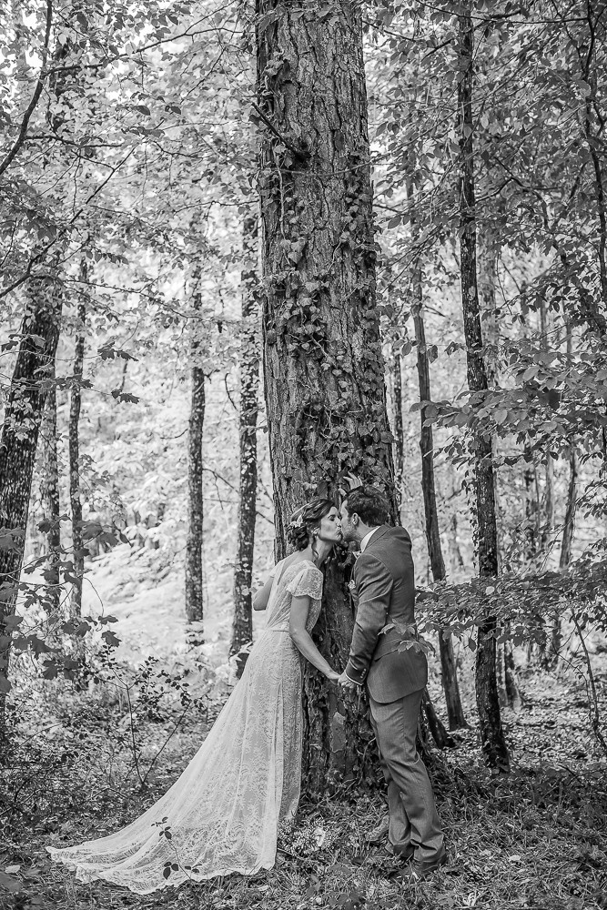 bw image of a wedding in rural france