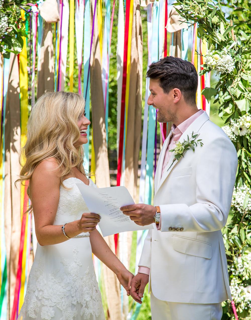 Bonne fete petal marquee wedding